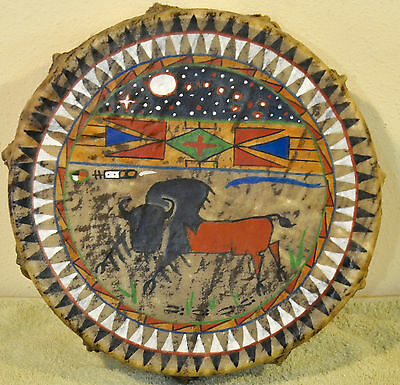 Buffalo Dream /Native American Drum Painted by Lakota Artist Sonja Holy Eagle