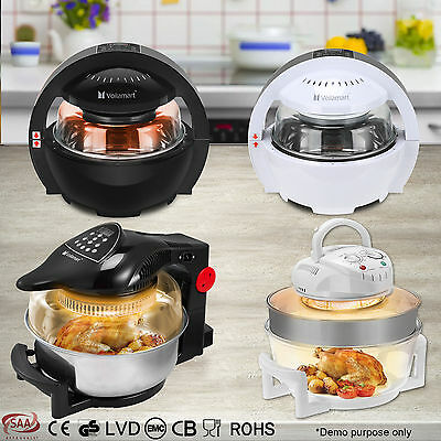 Air Fryer LCD Digital Multifunction Convection Oven Electric Rotisserie Cooker