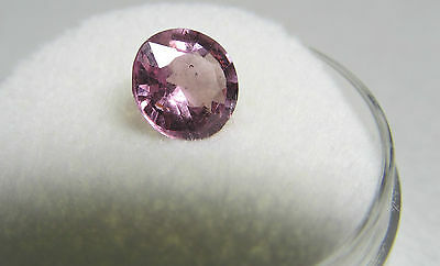 1.52 Carat Round Natural Pink Spinel, Lively And Light.  7 Mm Round