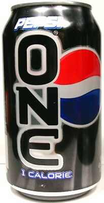 EMPTIED UNOPENED 12oz 355ml American Can Diet Pepsi One USA 2007