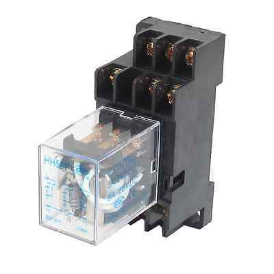 uxcell DC 12V Coil 5A 3PDT General Purpose Power Relay HH53P 11 Pin w Base Socke