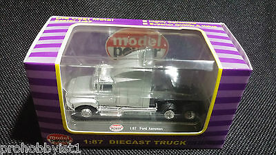 1:87 Ho Scale Model Power Truck Semi Die Cast Ford Aeromax Silver #20302 14+ Nos