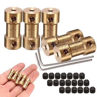 5Pcs Brass Shaft Motor Coupling 2MM Coupler Transmission Connector + 2 Spanners