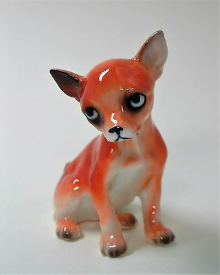 Collectible Chihuahua Dog Figurine Porcelain Beautifully Painted Made in Japan