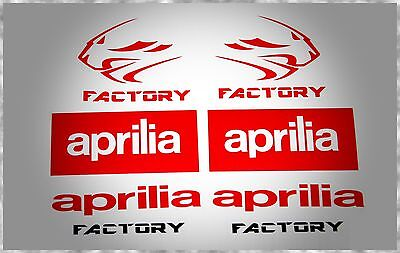 Aprilia Rsv4 Rf Factory Rsv Rs Rs4 Tuono Habana Shiver Caponord Stickers Set