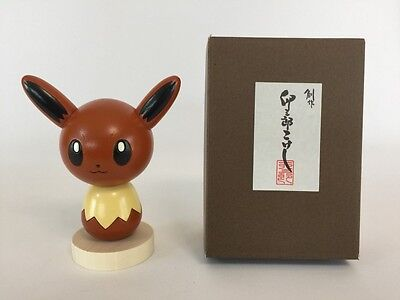 F/S Pokemon Center Kokeshi Usaburo Wooden Doll Figure Made in Japan