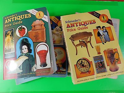 6 Schroeder's Antiques Price Guides Assorted Conditions  (#4442)
