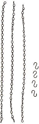 Panacea 86415 Replacement Flower Pot Chain Antique Brass 18-Inch 3-pronged ch...