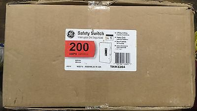 NEW GE THN3364 Heavy-Duty 200A Safety Disconnect Switch Non-Fusible 600VAC