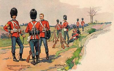 Grenadier Guards Military Art J A Stewart early unused pc Nister