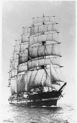 Lancing  Sailing Ship was Periere  RP pc used W Robertson & Co Gourock