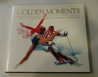1984 Olympic Golden Moments Book And Commemorative Stamp With Stamps