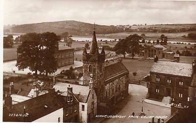 Kirkcudbright from Court House unused RP pc 1934 W Mackenzie