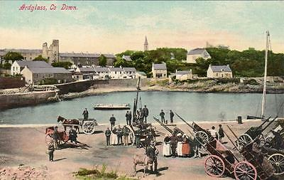 Ardglass Harbour Co Down unused old pc Lawrence