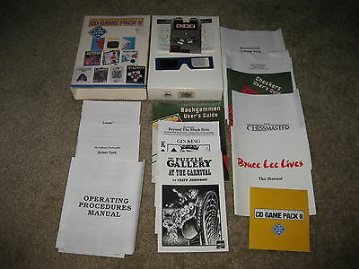 Software Toolworks CD Game Pack II 2 10 Games CD-Rom Bruce Lee Loopz Complete
