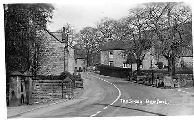 The Green Bamford Nr Hathersage unused RP old postcard A W Bourne