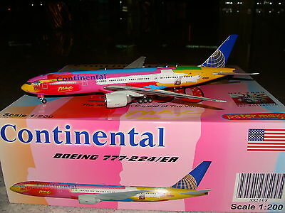 JC Wings 200 Continental B777 -200ER Peter Max 1/200 **Free S&H**