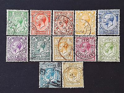 Great Britain GB UK Sg # 418 to Sc # 429 Block Cipher Fine Used Stamps Set