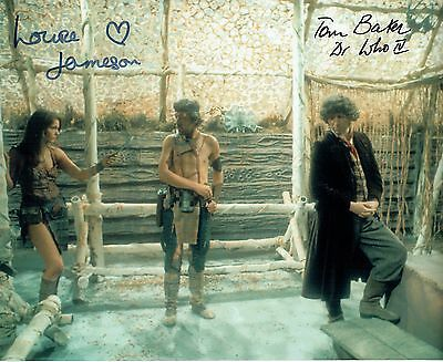 Dr Who Signed by Tom Baker & Louise Jameson Photograph