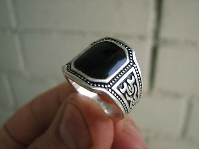 Nice White Metal Ring. Made In Russia (Hand Made From Dagestan  Prison) #4879