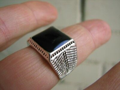Nice White Metal Ring. Made In Russia (Hand Made From Dagestan  Prison) #4880