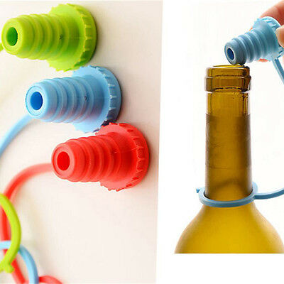 Home Kitchen Silicone Wine Beer Bottle Cap Stopper Plug Bar Tools 3 Colors Hot