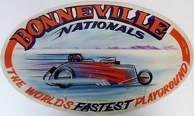 BONNEVILLE NATIONALS  610 X 360  Classic  Auto Memorabilia Metal tin Sign