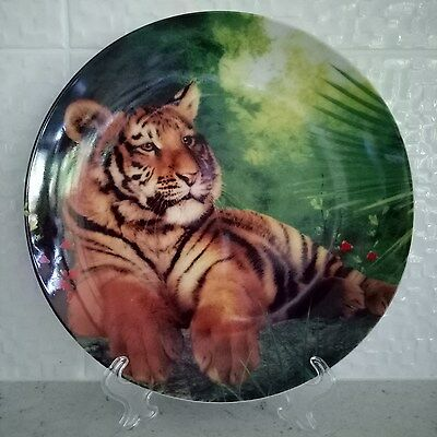 Tiger Porcelain Display Plate - African Animal Home Decor