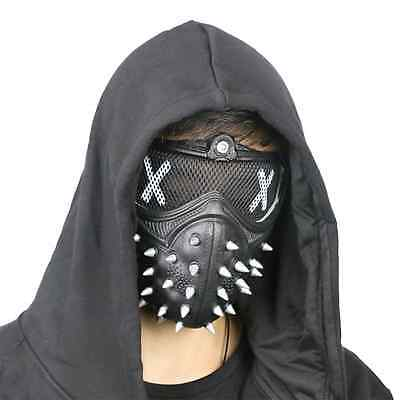 Watch Dogs 2 Aiden Marcus Mask Half Face Mouth-Muffle Cosplay Props PVC Hot New