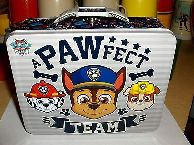 Paw Patrol`2016`A Pawfect Team`Metal Lunchbox`New With Tag->Tin Box->Free To US