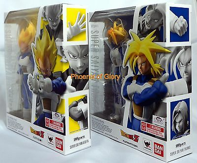 New Bandai Tamashii S.H Figuarts Dragonball Z Super Saiyan Vegeta And Trunks