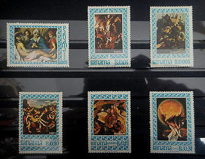 PANAMA 1967 Stamps SET EASTER CHRIST PAINTINGS RELIGION - MNH - VF - r3b647