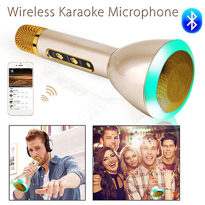 Wireless Karaoke Microphone Bluetooth Portable Stereo For IOS Android Smartphone
