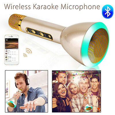 Wireless Microphone Bluetooth Portable Mic Home KTV Music Player For Samsung HTC