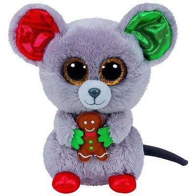 """10""""/25cm TY Beanie Boos Glitter Eyes Christmas Mouse Plush Stuffed Toy Kid Gifts"""
