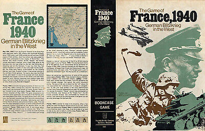 Francia, 1940 - Avalon Hill 1972 -  War Game #840 German Blitzkrieg in the West