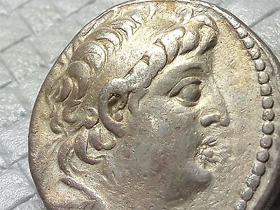 Silver Seleucid Kingdom Of Antiochus Vii Ancient Greek Tetradrachm Coin *2412