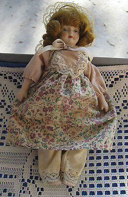 """Three Zasan  Porcelain Ornament Dolls  7 1/2"""" And 6"""" In Dress Outfits & Hats"""