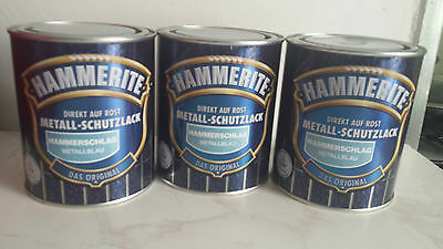 Hammerite Light Blue 750ml Metal Paint Direct To Rust