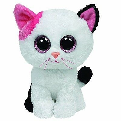 "10""/25cm TY Beanie Boos Glitter Eyes Muffin Cat Plush Stuffed Toy Kid Xmas Gifts"