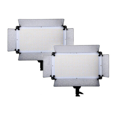 2 Pcs Dimmable 500 LED Photography  Video Portrait Dimmer light Panel LED 5500K