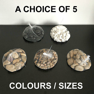 1kg Assorted Natural Decorative Stones Pebbles Aquarium Decoration Vase Garden