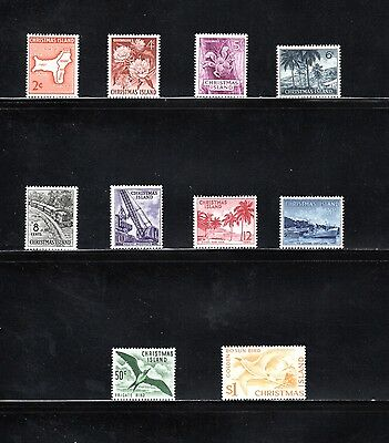 Christmas Island 1963 pictorial issue of 10 SG 11/20 MUH