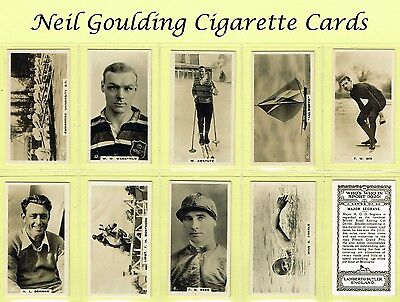 Lambert & Butler (Overseas) - Who's Who In Sport 1926 #1 to #50 Cigarette Cards