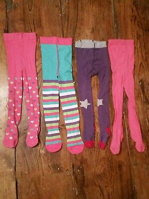 Bundle of 4 x age 3-4 Mini (baby) Boden and Mothercare tights girls