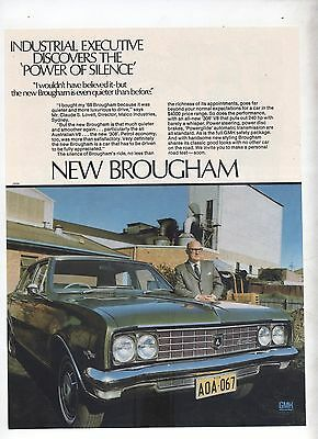 Holden Brougham Original Advertisement removed from a Magazine Power of Silence