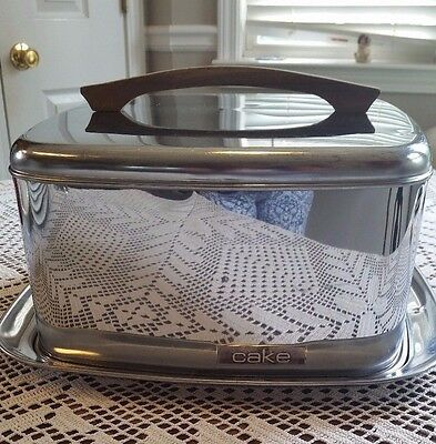 Lincoln Beautyware Square Cake Carrier Saver with Locking Lid c1950 USA