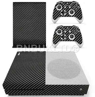 Black Carbon Skin Sticker For Xbox ONE S Console Controller