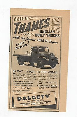 Ford Thames V8 Truck Original Advertisement removed from a 1950 Magazine