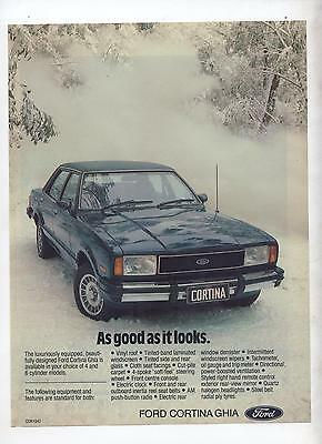TE or TF Ford Cortina Ghia Original Advertisement removed from a magazine